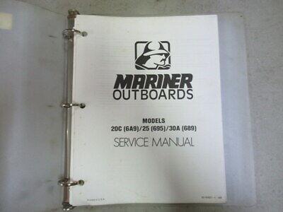 Mariner Outboard 20C 64A9/25 Models Factory Service Repair Manual P/N 90-84681-1