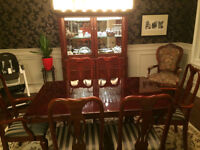 7-piece Colonial Dining room Table and Credenza
