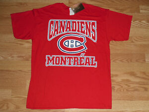 Official NHL Montreal Canadians Canadiens Red T-Shirt - New