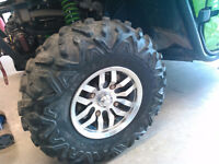 SET OF 4 TIRES big horns2.0 RIMS OFF 2014 KAWASAKI TERYX 4