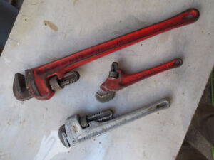 collection of Ridgid wrenches