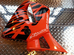 05 06 HONDA 600RR ORANGE TRIBAL RIGHT SIDE FAIRING OEM