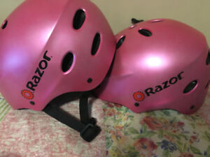 *GOOD CONDITION* pink cycling/ice skating helmet (ages 5 to 8)