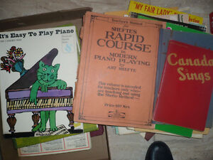sheet music and instructional booklets