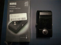 Korg Pitchblack Chromatic guitar Tuner