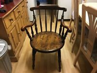 Wooden, old style Captain's chair