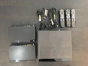Shaw Gateway PVR and 2 portals, 3 remotes, 3 cords