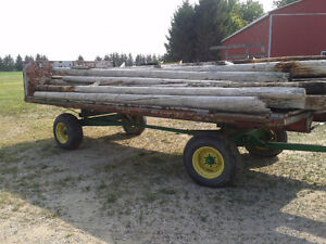 Round Pressure treated posts for sale