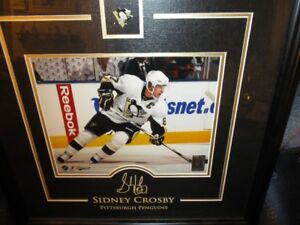 sidney crosby etched signature phot