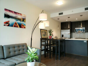 Olympic Village NEWLY FURNISHED 1 bedroom+solarium unit Rental