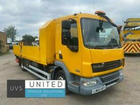 DAF TRUCKS LF45 160 2010 60 12 ton 8 stud dropside flatbed truck