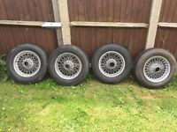 Classic car wire wheels mgb