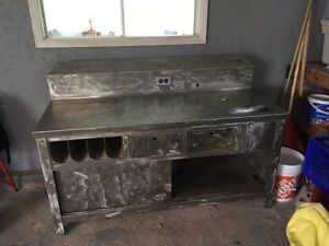 Stainless steel workbench with storage
