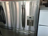 IDEAL ELECTRO REFRIGERATEUR GE STAINLESS 3 PORTES