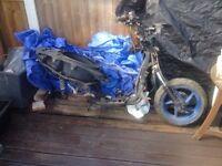 Aprilia SR 125 complete frame project bike