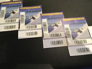 4 - Mt. Washington Adult Day Downhill Ski Tickets Save 15%