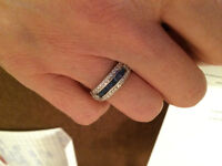 diamond and sapphire ring   size 7