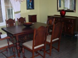 Solid Walnut Last Century Dining room Set