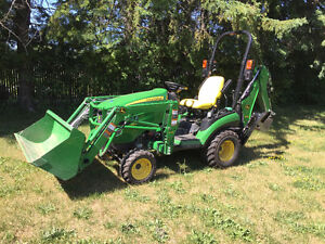 Compact tractor loader backhoe for rent