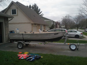 14ft aluminum boat package for sale