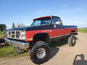 "RUNNING 1981 GMC 2500 4X4 9""LIFT REBUILT 350"""