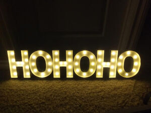 HO HO HO led marquee sign in new condition