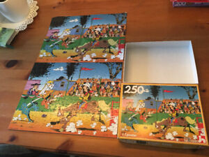LUCKY LUKE CASSE TÊTE PUZZLE 1984 DARGAUD NATHAN COMPLET