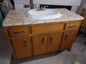 For Sale: Bathroom Vanity With Sink and Faucets