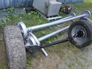 4000 lb. axles, excellent for trailers..