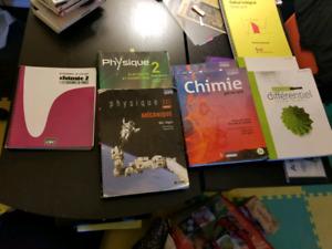 Livres cégep science de la nature (chimie, physique, math)