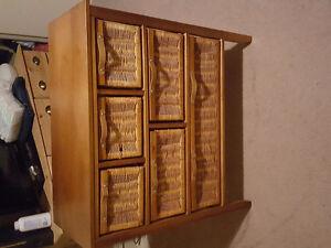 Wicker dresser