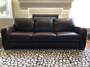 5 Piece Faux Leather Couch & Chairs Set