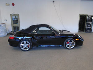 2004 PORSCHE 911 TURBO CONVERTIBLE! BLACK ON BLACK ONLY $49,900!