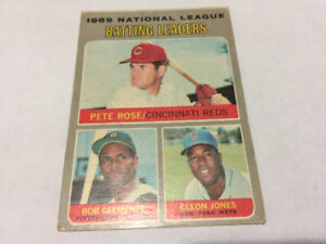 1970 TOPPS OPC BASEBALL #61 PETE ROSE BOB CLEMENTE JONES REDS