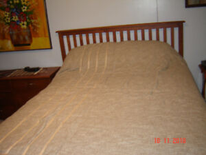 2  QUEEN SIZE BEDS AND DRESSERS AND BEDDING