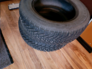 Two Goodyear Nordic 195/65R15 tires