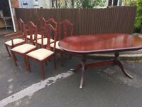 TABLE AND 6 CHAIRS GREAT SHABBY CHIC PROJECT ** FREE DELIVERY AVAILABLE **