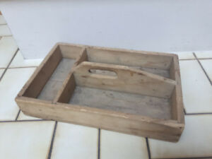 Old Antique Wooden Tray Storage