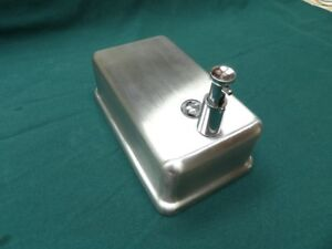 Stainless steel soap dispenser