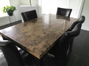 Marble Table (+ Free Chairs) For Sale
