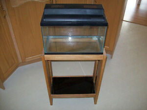 5 GAL. AQUARIUM  WITH  STAND  AND ACCESSORIES
