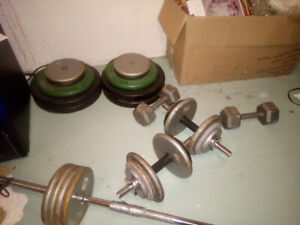 Gym free weights for sale, 75 cents/pound