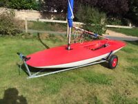 Racing topper sailing dinghy sail number 45587 lovely boat