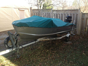 16ft Peterborough fishing boat with Classic 50  Mercury
