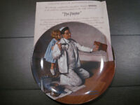 Norman Rockwell collector plate and mountings