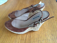 Dune wedge sandals size 6 worn once