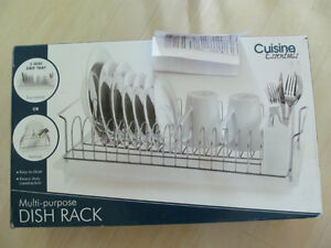 DISH RACK heavy duty and rust resistant chromed wire  NEW