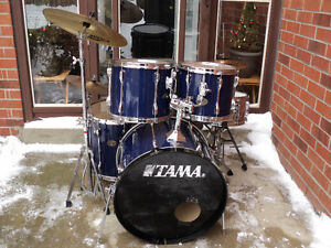 5 pc.Tama Rockstar/Zildjian cymbals/ hardware/new heads/extras!