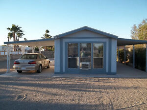 Mobile home on lot in Yuma, Az.