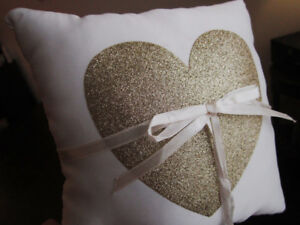 Various wedding decor -ring pillow, frames, sign, square mirrors
